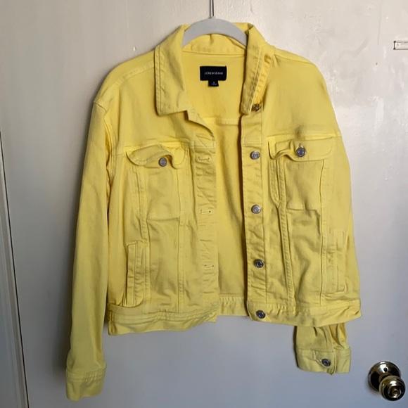 Super cute light yellow jean jacket!